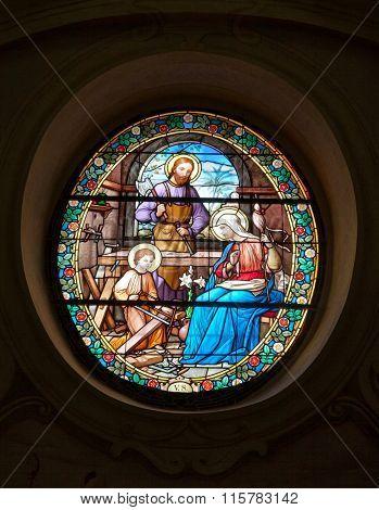 Vitrage Window In St. Nicholas Church, Znojmo
