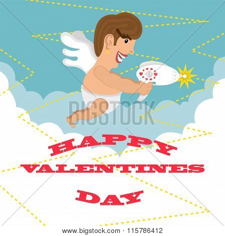 Greeting Card Happy Valentines Day. Design.