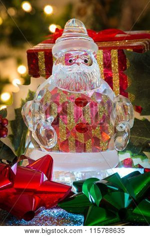 Glass santa claus