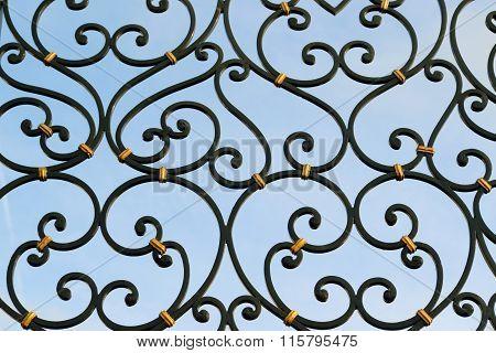 Detail of metal gate