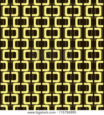 Seamless Pattern Of Open Rectangular Hoops