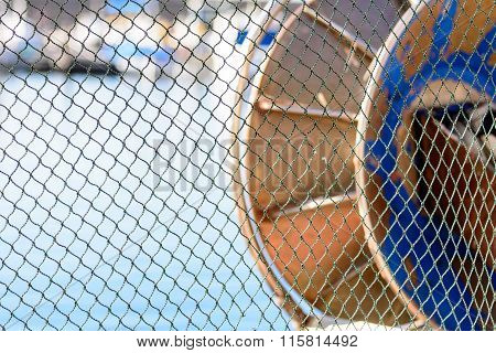 The Fishing Net Lying In The Sun.
