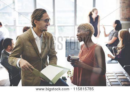 Collaboration Communication Conversation Coworker Concept poster
