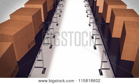 Packing And Sorting Industry Concept.
