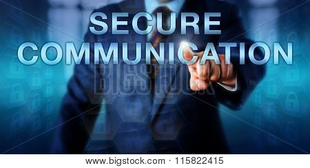 Expert Pressing Secure Communication Onscreen