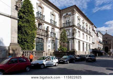 Municipal Library of Braga city, Portugal. Formerly it was the Archbishop palace, known as the Bragan�§as Palace.