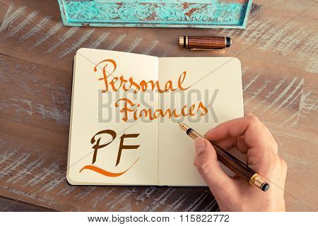 Business Acronym Pf Personal Finances