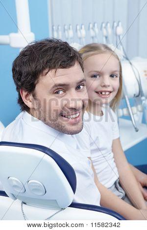 Lächelnd Patienten