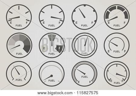 Gauge meter icons sets