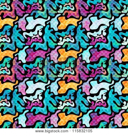 Graffiti Colored Seamless Texture Vector Illustration