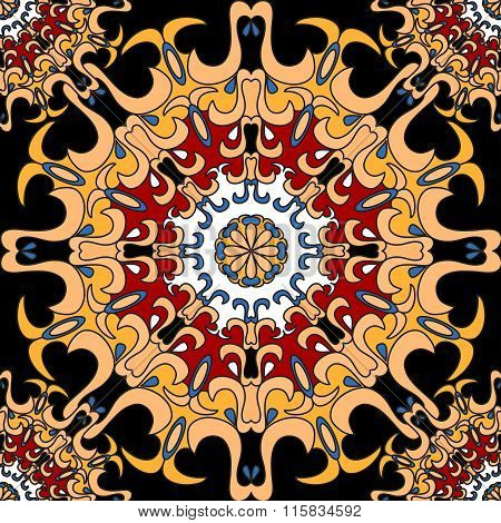 Mandalas. Seamless Pattern. Vintage Decorative Elements.