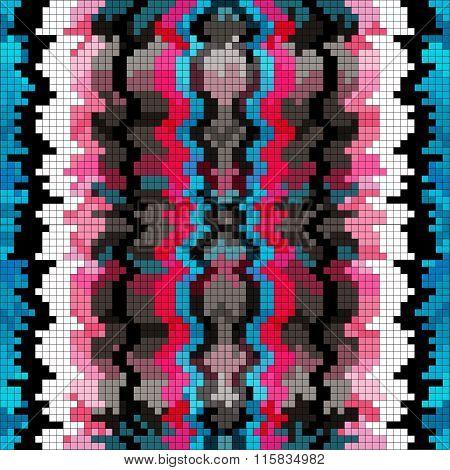 Pixel Dark Background Vector Illustration