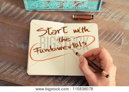 Handwritten Text Start With The Fundamentals