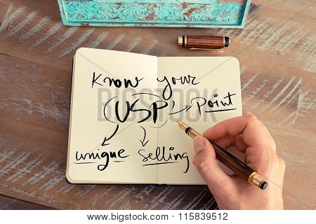 Handwritten Text Know Your Unique Selling Point