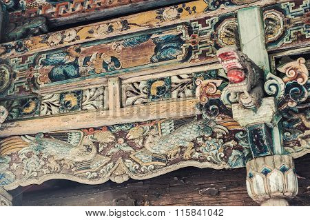 Chinese Old Colorful Roof
