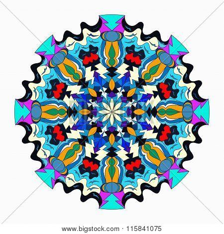 Mandala. Vintage Elements. Vector Illustration