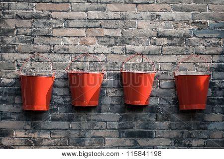 Four Fire Buckets