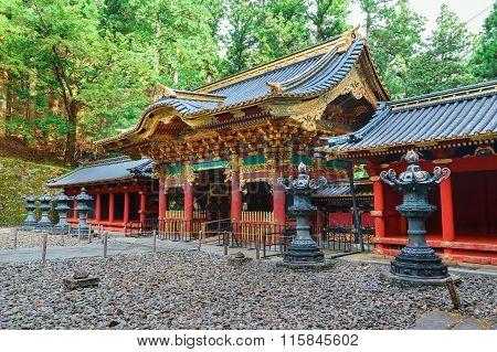 Yashamon Gate at Taiyuinbyo - the Mausoleum of Shogun Tokugawa Iemitsu poster