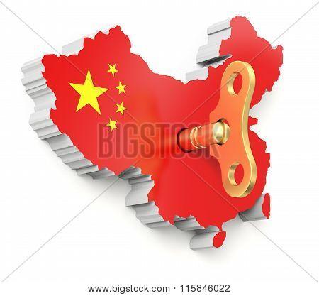 Chinese economic momentum concept