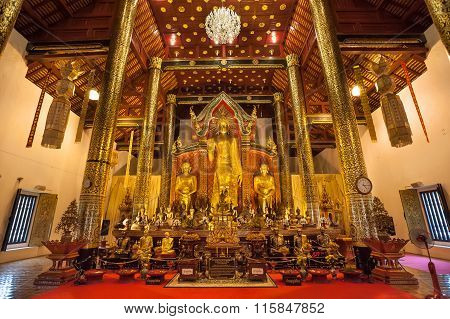 Interior Of Wat Chedi Luang, Chiang Mai, Thailand