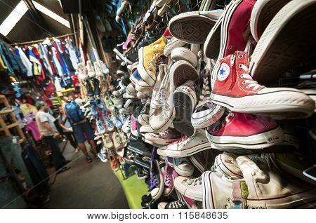 Old Converse Trainers At Chatuchak Market, Bangkok