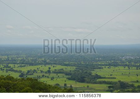 landscape of Thailand upcountry