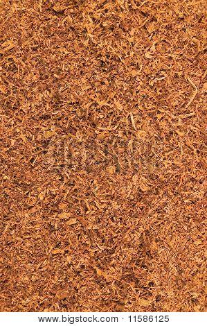 Cut Pipe Tobacco Texture Background Macro Closeup