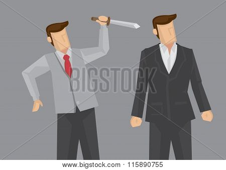 Backstabbing Vector Illustration