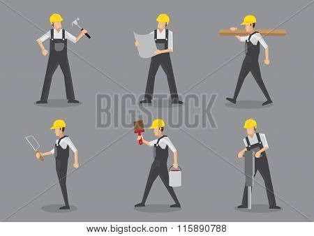 Construction Worker Vector Character Sheet