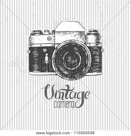 Hand Drawn Vintage Camera