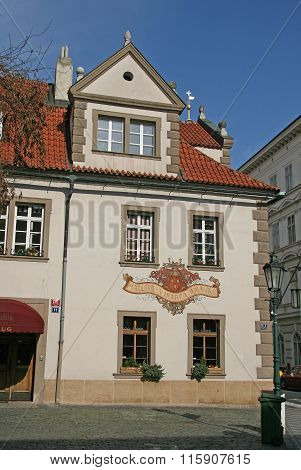 Prague, Czech Republic - April 18, 2010: Buildng In Mala Strana Or Lesser Side, Beautiful Old Part O