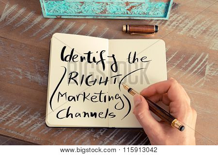 Written Text Identify The Right Marketing Channels