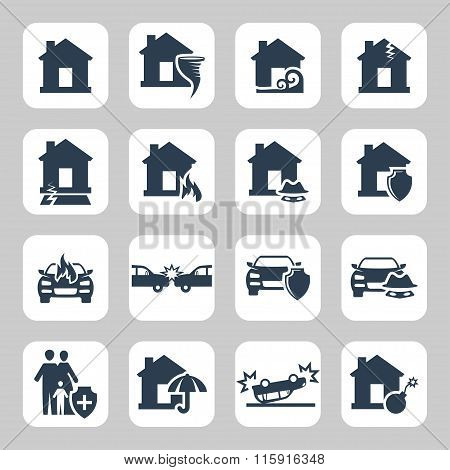 Insurance And Accidents Icon.vector Symbols. Vector Illustration