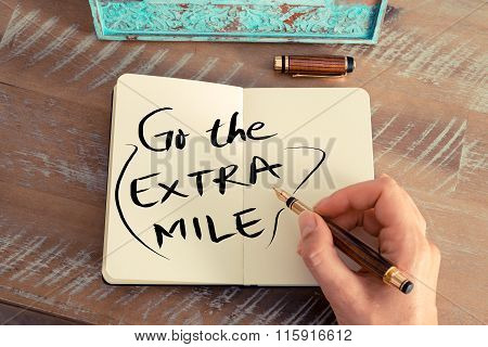 Handwritten Text Go The Extra Mile