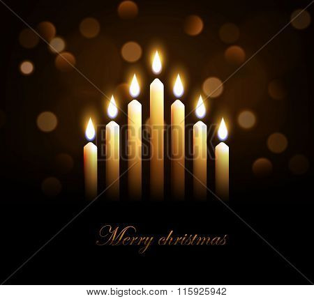 merry christmass candles eps 10