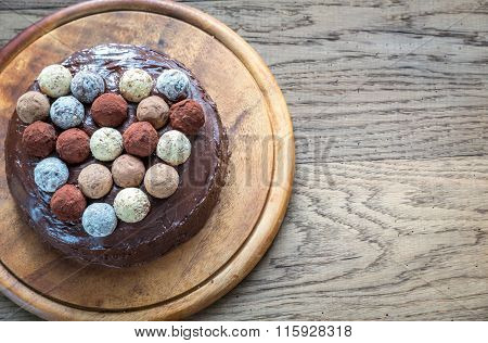 Sacher Torte Decorated With Truffles