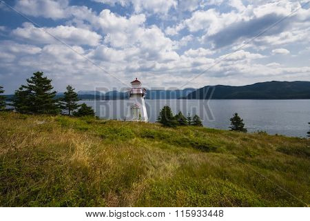 Woody Point Lighthouse From Afar, Gros Morne National Park, Newfoundland and Labrador