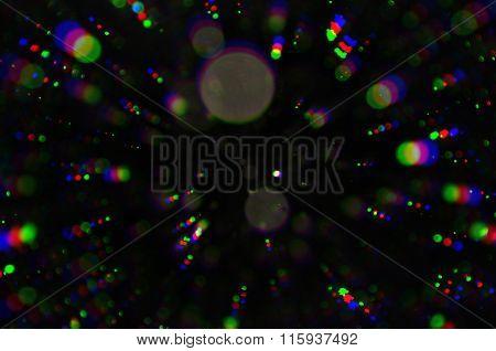 Flashing Lights Colorful Circles