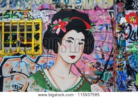 Japanese Geisha Graffiti