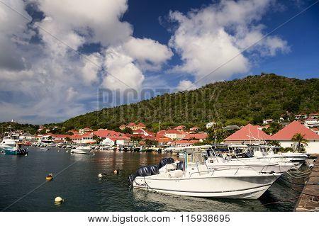 Motor Boats In Bay