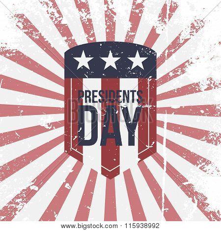 Presidents Day vector partiotic Label