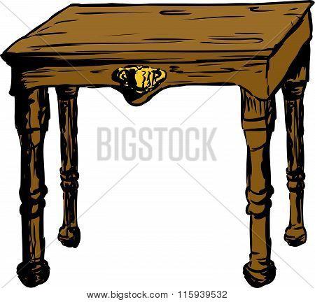 Single Square Table