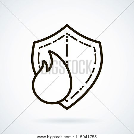 vector icon refractories on white background.