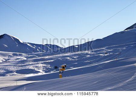 Ski Resort At Early Morning