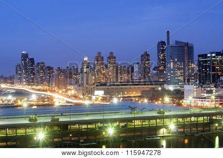 Upper West Side Highway At Night