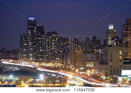 Midtown Manhattan Highway Illuminated