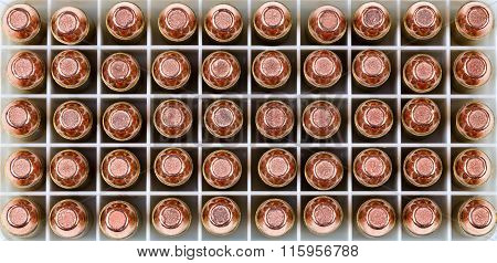 Close Up Of A Box Of New Bullets In Filled Frame Format