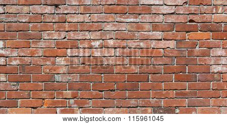 Long Brick Wall Background With Lots Of Character