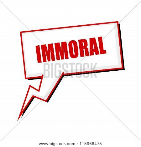 Immoral Red Stamp Text On White Speech Bubbles