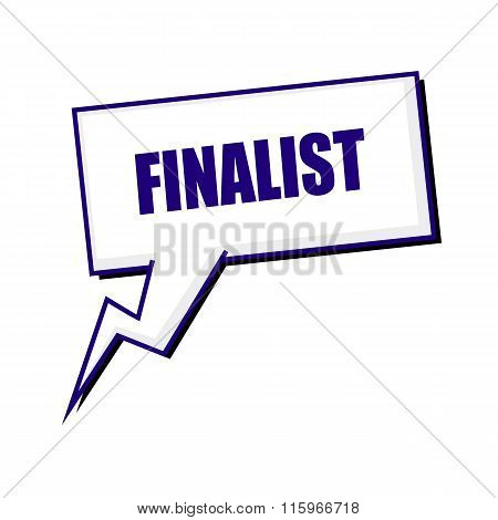 Finalist Blueblack Stamp Text On White Speech Bubbles